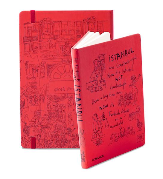 Notelook İstanbul Çiçek PasajıÇizgili A5 Kitap Konusu