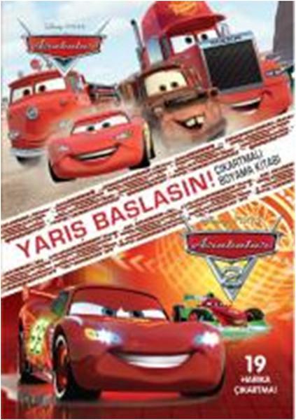 Disney Arabalar Yarış Başlasın çıkartmalı Boyama Kitabı Dr