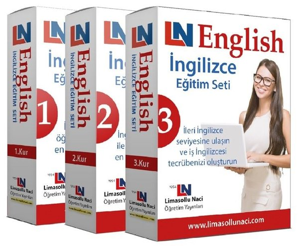 Limasollu Naci Ingilizce Eğitim Setleri 3 Kur Bir Arada Dr