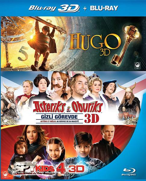 3D Box Set (Hugo - Asteriks Oburiks Gizli Görevde - Spy Kids 4)