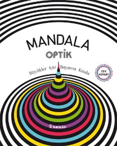 Mandala Optik Büyükler Için Boyama Kitabı Dr Kültür Sanat Ve