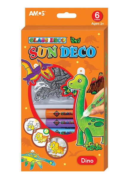Amos Sun Deco Cam Boyama Seti Dinozorlar Dr Kültür Sanat Ve