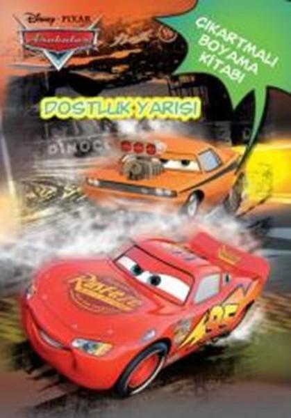 Disney Arabalar Dostluk Yarışı çıkartmalı Boyama Kitabı Dr