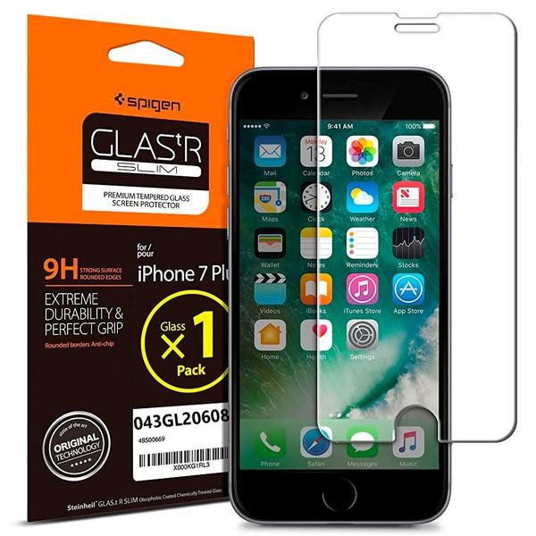 Spigen IPhone 7 Plus 8 Cam Ekran Koruyucu GLAStR Slim