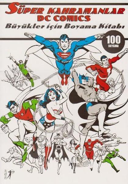 Süper Kahramanlar Dc Comics Büyükler Için Boyama Kitabı Dr