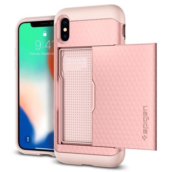 7e9ec84672537 Spigen iPhone X Kılıf Crystal Wallet Cüzdan - Rose Gold | D&R ...