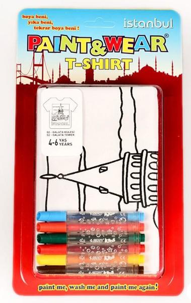 Paint Wear T Shirt Boyama Seti Kız Kulesi 4 6 Yaş Dr Kültür